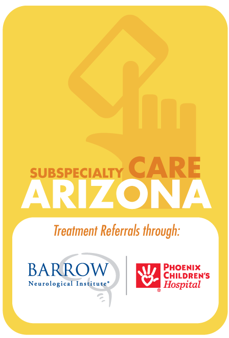 subspecialty care from barrows and PCH available.