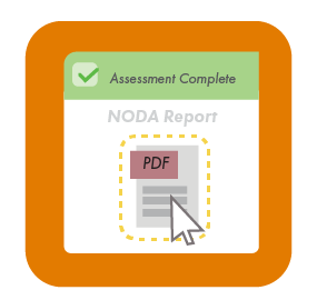 NODA PDF report available in customer portal.