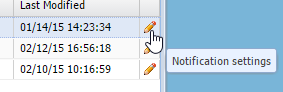 Click the pencil to set notifications for that client.